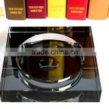 Wholesale glass plating crystal ashtray & Engagement Souvenirs plating crystal ashtray