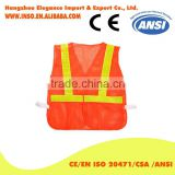 Riding reflective vest safety night reflective jacket Fluorescent yellow and orange M-XL customize logo printing