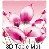 Lenticular table mat / Promotional 3D print lenticular coaster pad/good quality 3D table mat