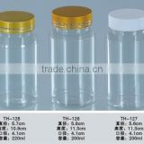 plastic bottle Manufacturers PET Bottle pill/healthy care bottlewith crown cap150ml and screw cap                                                                                         Most Popular