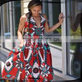 Summer sexy women african print maxi dress with ethnic style