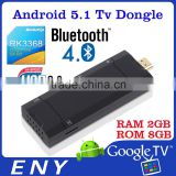 5.1 RK3368 Octa Core 64bit Android 5.1 Lollipop OS 2GB RAM 8GB ROM BT4.0 Kodi 4k mini digital tv stick