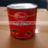 QS certified Factory Manufacture Different Sizes of Canned Tomato Paste concentration 28-30%