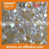 China 1'' x 1'' square mother of pearl seashell mosaic floor wall tiles manufacturer