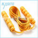 High quality 2.4M children fitness two-core yellow cotton jumping rope