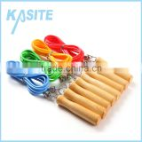 private lable plastic jump rope with wooden handle                                                                                                         Supplier's Choice