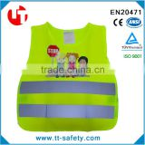 CE EN471 EN1150 class 2 high visibility quality kids safety reflective school garment                                                                         Quality Choice