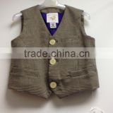 Handsome boy children waistcoats matching jackets sleeveless children vests