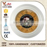 High-End Handmade Customize Security Wall Clock Roman Numerals