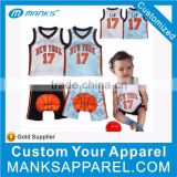 New Style Blue Color Baby Basketball Jersey