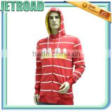 New fashion Cotton French Terry side pockets long sleeves men's zipper-up hoodie sweatshirt