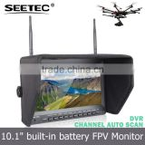 Uav aerial photograph 10.1 inch audio video wireless lcd monitor professional drone with camera