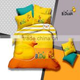 hot sale wholesale 100% cotton lovely cartoon animal duck printed kids babies bedding set