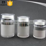 15ml 30ml 50ml empty round shape press type acrylic jar for cosmetic with transparent cap