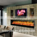 indoor stainless steel electric fireplace for apartment , houses bars restaurant and offices