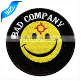 Wholesale Expression logo patch for children clothing, t-shirt emoji embroidered patches