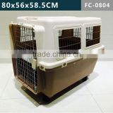 Dog Animal transport cage, plastic Pet Carriers airline pet cage 80x56x58.5 CM
