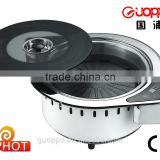 stainless steel electric Pan grill steam hot pot and Teppanyaki grill, GER-2000UCT