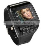 Newest Dual Sim Card dual standby quadband watch phone keypad + 1GB Memory Card watchphone