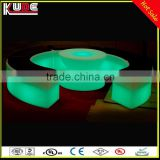 Night Club LED Colours Changing Bar Furniture LED Funny Bar Stool Curved Stool For Party Using