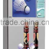 GYM hot selling Coin/bill/credit card operated Shuttlecock vending machine with coin changer and GPRS