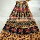 Traditional Cotton skirt wrap on skirt sarong style skirt peasant skirt hand block print