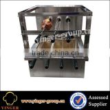 Stainless Steel Counter Top Charcoal Brazilian Rotisserie Equipment, Brazilian BBQ Grill