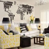 Letter decal DIY world map vinyl wall sticker