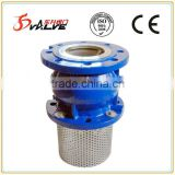 Full flow foot valves hydraulic pump