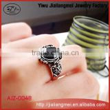 Yiwu Factory Wholesale Retro Personality Carve Patterns Designs Black Stone Ring For Men