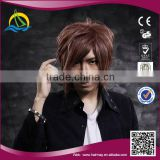 High quality New fashion style Heat Resistant Fiber afro wigs men