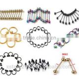 Stainless Steel Eyebrow Piercings Belly Button Rings Nose Rings Tragus Piercing Body Jewelry