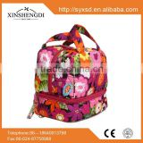 China manufacturers candy textile printing organic tote Cotton Quilted Women Beach Bag