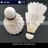 Cheap price class A goose feather badminton shuttle with OEM