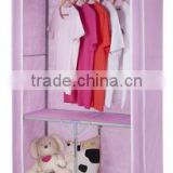 Bedroom furniture storage wardrobe waterproof PP non woven folding fabric wardrobe cabinet