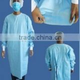 disposable blue PP surgical gown
