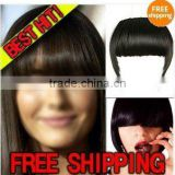 NEW HAIR EXTENSIONS CLIP ON BANGS SIDE LONG 5colors