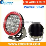 Wholesale 4x4 accessories LED work light 96W with 32PCS LEDs, working light, driving light for tractor offroad 4WD UTV
