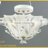 Crystal glass metal art iron cover home modern ceiling lamp