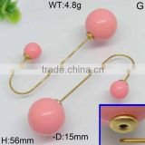 Custom-made pink beads gold filled artificial jhumke earring jewellery