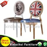 Hot sale wholesale imitate wood chair restaurant dining chair hotel furntiture for banquet hall