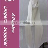 "2015 >>>New Fashion White Long Straight Cosplay Party Wig 32"" 80cm"