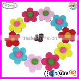 C594 Boutique Girls Bow Tie Felt Flower Pinwheel Hair Bow Alligator Clips Barrettes Felt Flower
