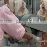 cutting machine for cutting chicken/duck breast and thigh and wings / cutting machine for carcasses