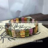 Beautiful Tourmaline Cut Stone 10*3mm natural tourmaline natural stone stretch bracelets