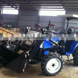 Hot sale Front end loader for garden tractor 40-55HP, 4in1 assembled bucket, quick linkage, pallet fork, timber grapple.