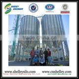 assembly corrugated steel silo wheat flour storage silo