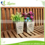 retro rectangle garden decorating chemical pickling floor type white zinc bonsai tall outdoor planter