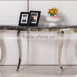 Modern Console table made of stainless steel and marble