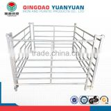 Wholesale hot dipped railing pool galvanized wire mesh portable yard farm field steel metal cheap garden fence